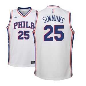 Youth Philadelphia 76ers Ben Simmons Jersey white